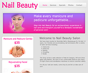 Brochure - Nail Salon Website